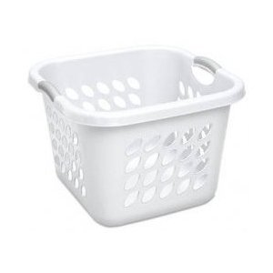 Sterilite White Square Laundry Basket