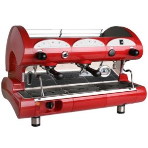 European Gift & Houseware La Pavoni BAR-STAR 2V-R 2-Group Commercial Espresso Machine, Ruby Red
