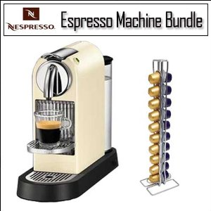Nespresso CitiZ White Espresso Machine D110WH D110 60S With Swissmar Vista 40 Nespresso Coffee Capsule Holder