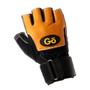 GoFit Gymworx Pro Leather Weightlifting Glove with Wrist Wrap and Training CD