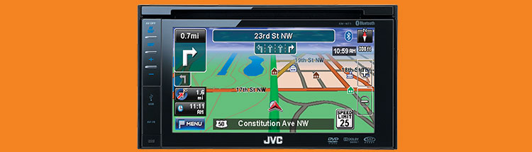 Jvc kwnt1 car navigation dvd cd usb sd blu tooth 6.1inch 80w
