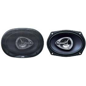JVC In-Vehicle CS-V6935 6x9-Inch 3-Way Coaxial Speakers (Single, Blue)