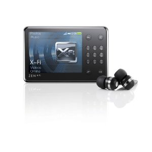 Creative Zen X-Fi 8 GB Video MP3 Player with Built-In Speaker (Black/Silver)