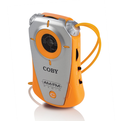 Coby cx71 orange radio  mini amfm pocket size