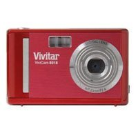 Vivitar Vivicam V8018 8.1MP 1.8inch LCD 8X Digital Zoom Digital Camera in Red