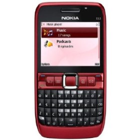 Nokia E63-2 Unlocked Phone with 2 MP Camera, 3G, Wi-Fi, Media Player, and MicroSD Slot--U.S. Version with Warranty (Ruby Red)
