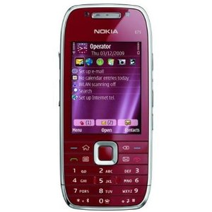 Nokia E75 Unlocked Phone with 3.2 MP Camera, 3G, Wi-Fi, GPS, Media Player, and 4 GB MicroSD Card--U.S. Version with Warranty (Ruby Red)