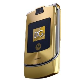 Motorola RAZR V3i Dolce & Gabbana Unlocked Phone with MP3/Video Player, and MicroSD--International Version with No Warranty (Gold)