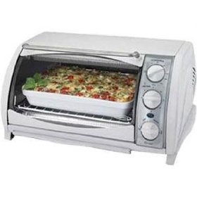 B&d tro651w white toaster oven broil 4slice