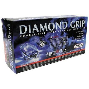 Microflex (MFXMF300L) Large Diamond Grip Gloves 100 Per Box