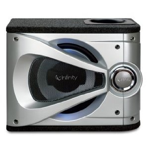 Infinity Reference 1220se Single 12-Inch Preloaded Enclosure with Slipstream Port (Silver/Black)
