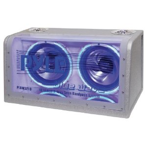 PYLE PLBWS210 Dual 10-Inch 1000 Watt Bandpass with Neon Woofer Rings