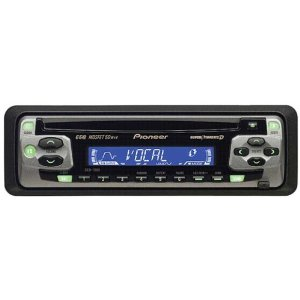Pioneer Car CD Player DEH-1500 MOSFET 50Wx4 Super Tuner 3 AM/FM Radio