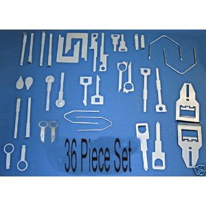 36-pc RADIO REMOVAL TOOL SET - Car Audio Tools Keys