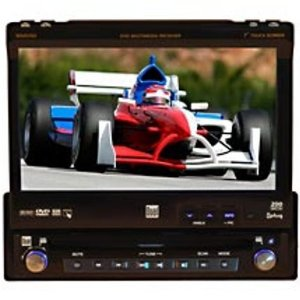 Dual XDVD700 AM/FM/DVD Receiver with 7-Inch Motorized LCD, Touch Screen, Audio/Video/i-Pod Interface (Black)