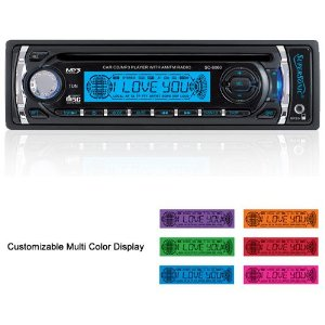 SuperSonic SC-6060M In-Dash CD MP3 Player AM FM Car Stereo Receiver