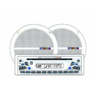Dual MXCP51 In Dash Marine AM/FM/CD/MP3 Receiver and Speaker Combo Pack