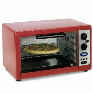 Cooks By JCP Home cooks 28L Convection and Rotisserie Toaster Oven - Black, Pink, Red, White, Yellow