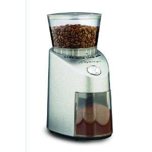Capresso 560 Infinity Conical Burr Grinder, Brushed Silver Finish