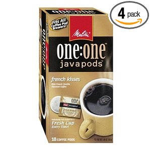 Melitta One:One Java Pods, French Kisses, French Vanilla Flavored Coffee, 18-Count Pods (Pack of 4)