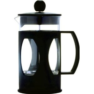 GROSCHE COLOMBO Black Gourmet Coffee Press and tea maker (teapot) with Thermal Glass and Stainless Steel Press, 20 fl. oz capacity
