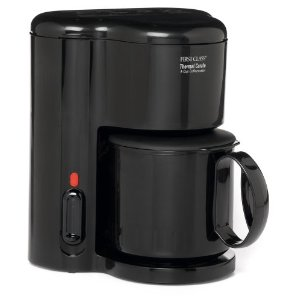Jerdon First Class CM21B 4 Cup Coffee Maker, Thermal Carafe, Black