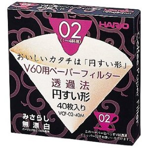 Hario V60 Size 02 Filtration Papers 40count