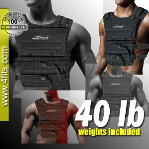 NEW! ZFO-40LBS Adjustable Weighted Vest (WEIGHTS INCLUDED)