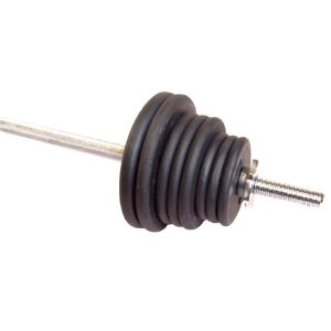 Cap Barbell Weight Set with Threaded Bar (Black, 1-Inch/100 Pound)