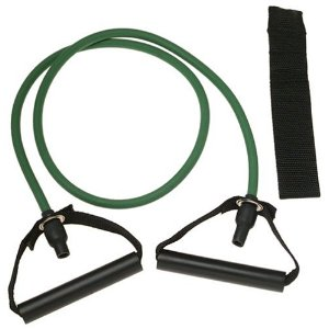 SPRI ES500R Xertube Resistance Band with Door Attachment and Exercise Charts (Green, Light)