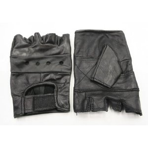 L NEW LEATHER WEIGHT LIFTING GLOVES EXERCISE TRAINING