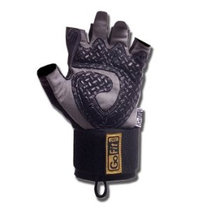 GoFit Diamond Tac Wrist-Wrap Weightlifting Gloves