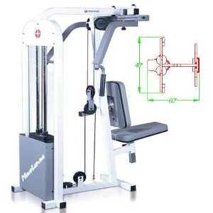Maximus Fitness MX320 Pec Dec and Rear Delt Exercise Machine