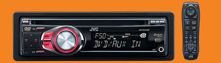 Jvc kddv5500 car dvd cd multimedia receiver 80w remote