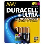 Duracell Ultra Batteries for Photo/Electronic Devices, Size AAA (8 Batteries)