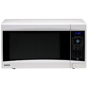 Sanyo ems5120w white microwave 1.2cf 1000w turntable
