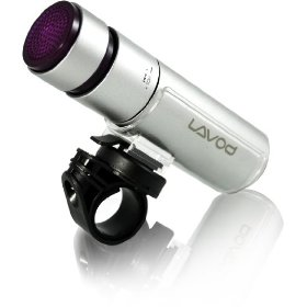 Lavod Bicycle Headlight with MP3 Player, 2 GB Internal Memory and Integrated High-Quality Speaker (Silver)