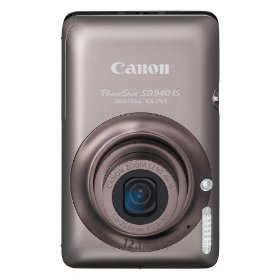Canon PowerShot SD940IS 12.1MP Digital Camera with 4x Wide Angle Optical Image Stabilized Zoom and 2.7-inch LCD (Brown)