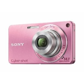 Sony DSC-W350 14.1MP Digital Camera with 4x Wide Angle Zoom with Optical Steady Shot Image Stabilization and 2.7 inch LCD (Pink)