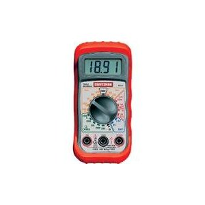 Craftsman Multimeter, Digital, with 8 Functions and 20 Ranges