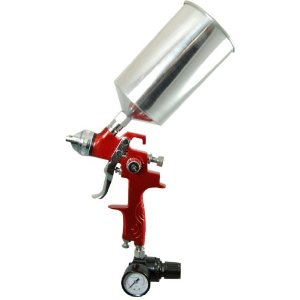 Professional HVLP Spray Gun with 1.4mm Fluid Tip and Regulator