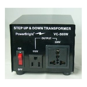 Power Bright VC500W Voltage Transformer 500 Watt Step Up/Down 110 Volt - 220 Volt