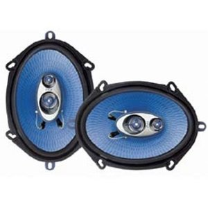 PYLE PL573BL 5-Inch x 7-Inch and 6-Inch x 8-Inch 300 Watt Three-Way Speakers