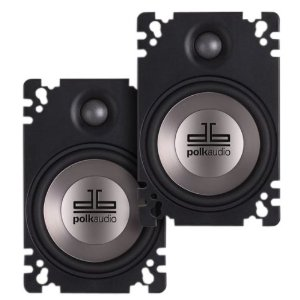 Polk Audio DB461P 4-by-6-Inch Coaxial Plate-Style Speakers (Pair, Black)