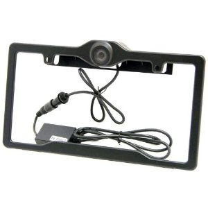 Crimestopper Sv-5600 Pcfb Easy to Install License Plate Type Rear View Camera System with Wide Viewing Angle and Swiveling Camera and Top of the Line Ccd Camera Built In