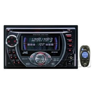 JVC KW-XG700 Double DIN In-Dash CD Receiver with Front AUX Input and USB Port J-Bus Expandable (Black)