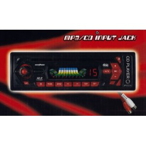 Auto-Loading Car CD Player / Reciever with AM/FM Radio & MP3 Input Jack, Black (FX-931CD)