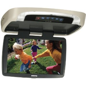 Audiovox VOD128A 12.1-Inch LCD Overhead Monitor with Integrated DVD Player (Pewter)