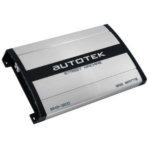 Autotek Street Machine SM2-1200 1200 Maxx Watt Power A/B Class Two-Channel Amplifier (Silver)