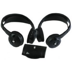 PYLE PLVWH6 Dual Wireless IR Mobile Video Stereo Headphones withTransmitter